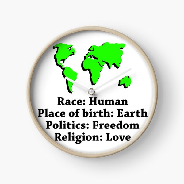 A Race, A Place Of Birth Clock