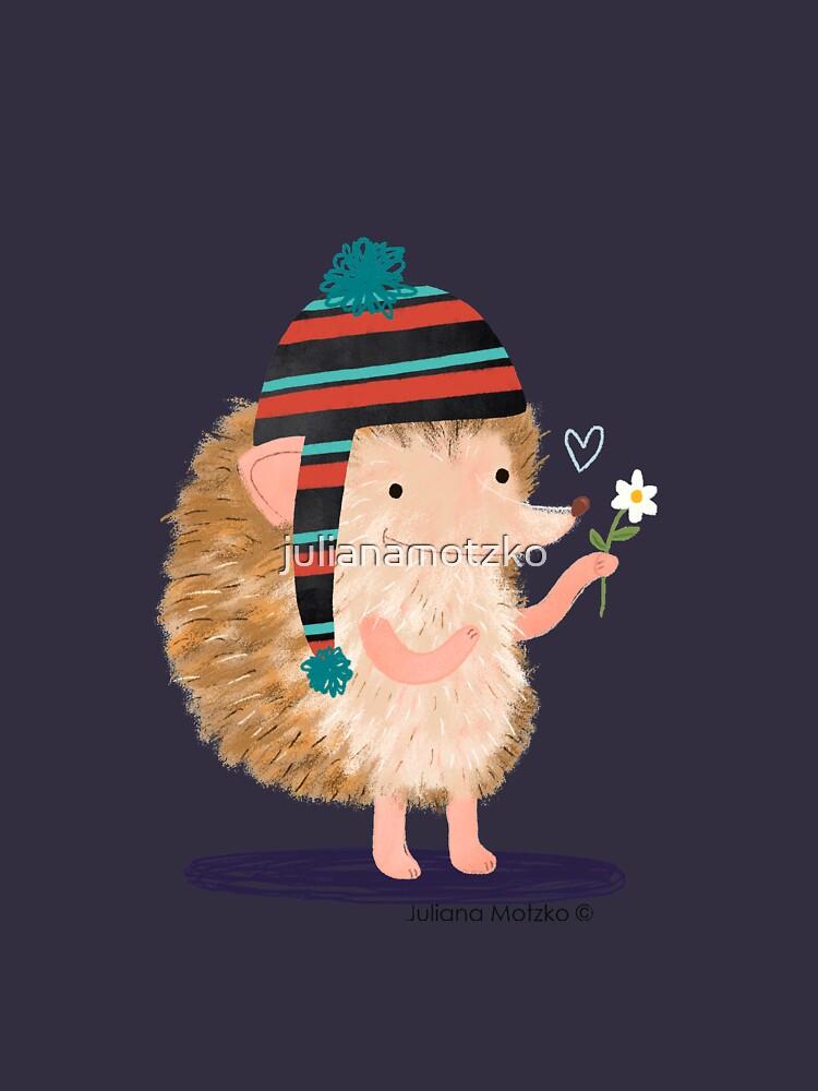 Hedgehog with flower by julianamotzko