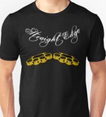 Straight Edge Brass Knuckles Knuckle Duster Clothing Co. T-Shirt