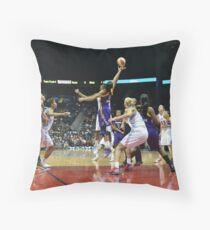 Jump Ball Throw Pillow