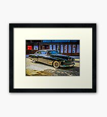 Black 1950s Custom American Car Framed Print