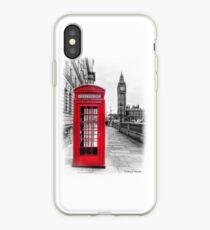 Red Phone Box iPhone Case