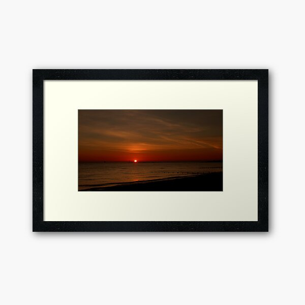 Sunset At Sea Framed Art Print