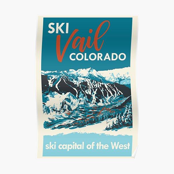 Ski Vail Colorado, vintage poster Poster
