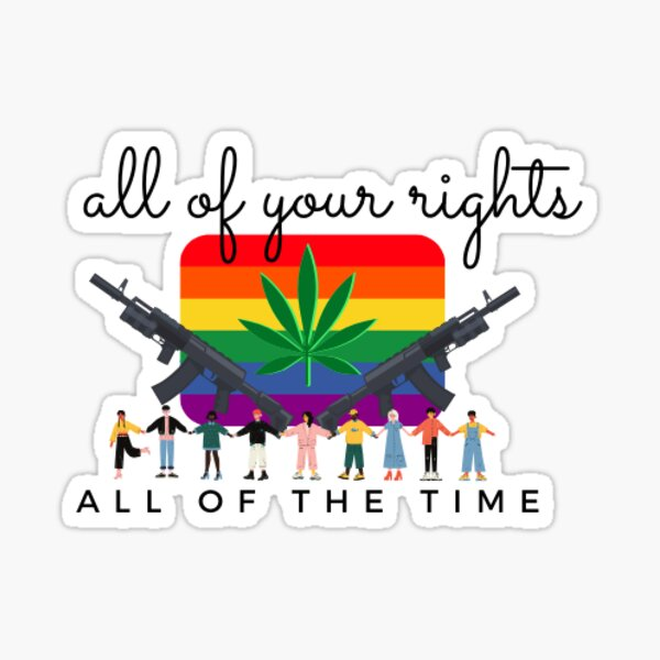 All Of Your Rights All Of The Time - Libertarian Jorgensen 2020 Sticker