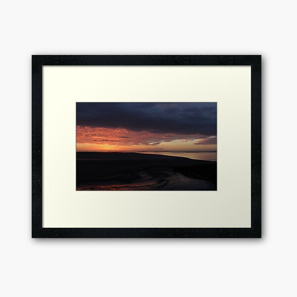 Morcambe Bay Sunset Framed Art Print