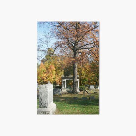 Mausoleum, Fall Landscape Photography by Courtney Hatcher Art Board Print