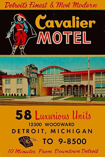 Vintage Cavalier Motel Detroit Ad by The Detroit Room