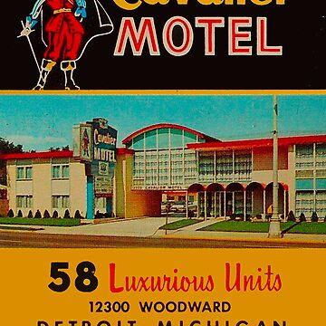 Vintage Cavalier Motel Detroit Ad by krawlspace