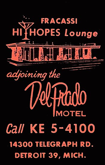 Vintage Detroit Del Prado Motel Ad by The Detroit Room