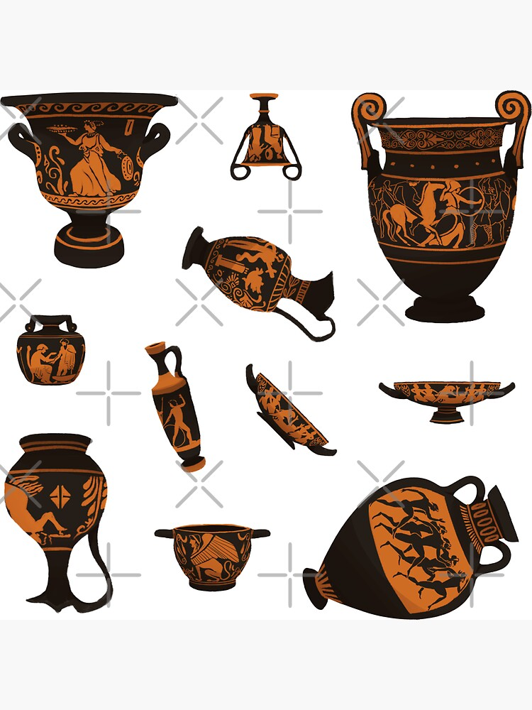 Ancient Greek Pottery by flaroh