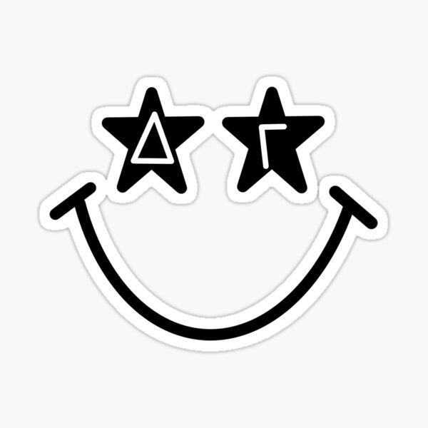 delta gamma starry eyed smiley Sticker