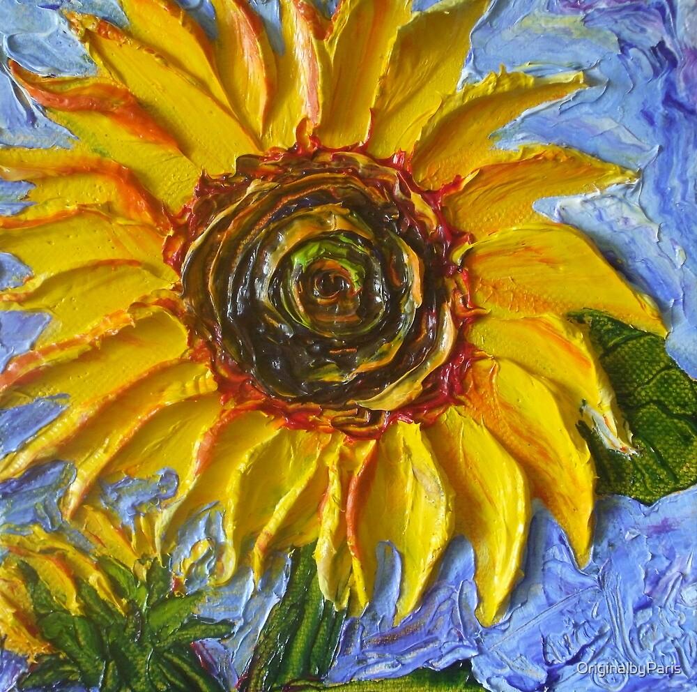 Yellow Sunflower by OriginalbyParis