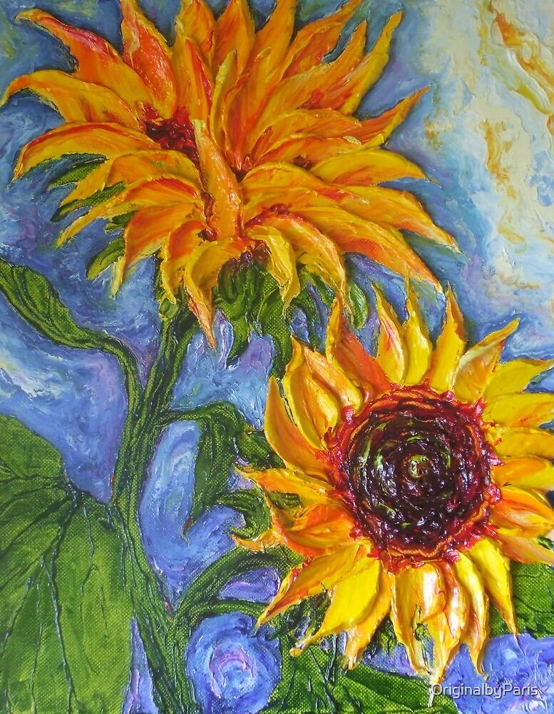 Paris' Yellow Sunflowers by OriginalbyParis
