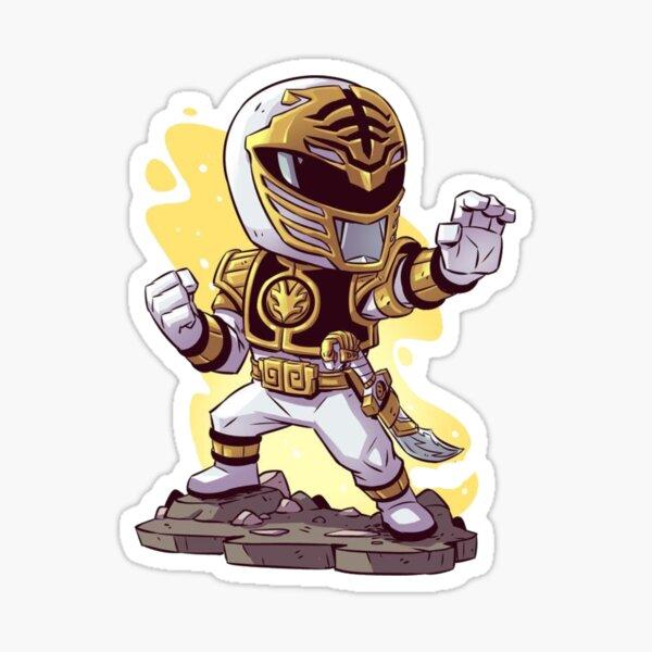 Weißer Power Ranger Sticker
