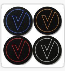 The Vamps Logo Multi coloured Sticker