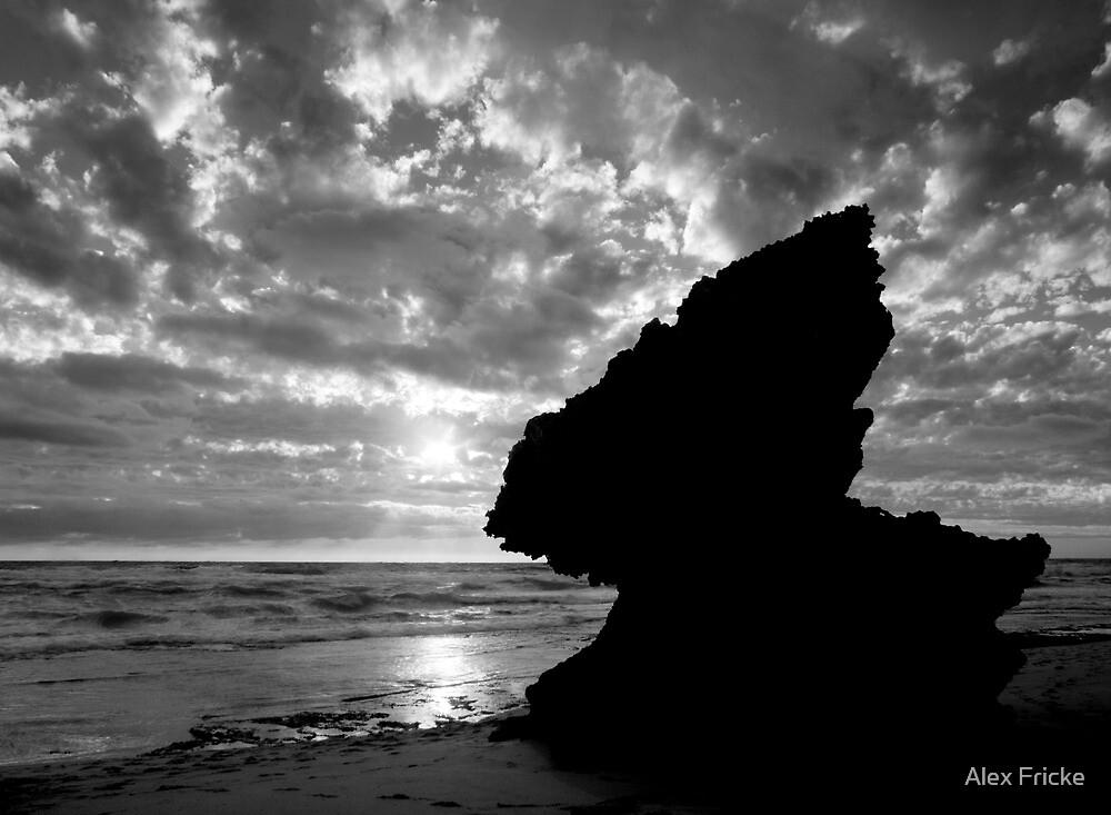 Negative Rock At 16th Beach by Alex Fricke