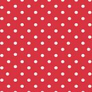 Red polkadot iPad case by PixelRider