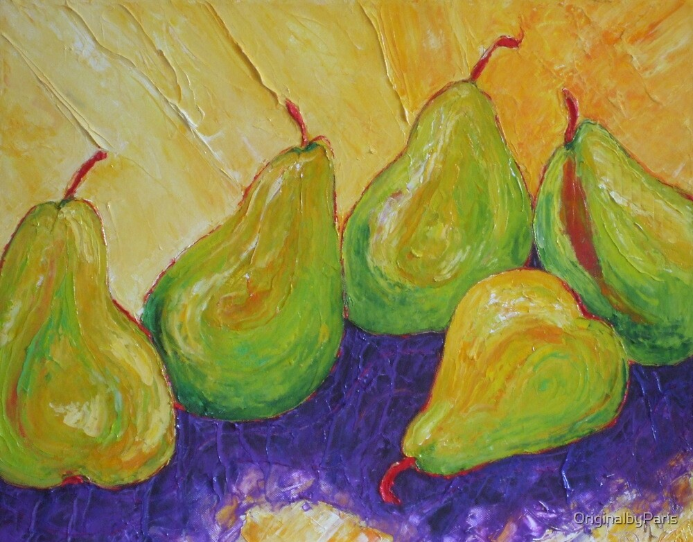 Green Pears by OriginalbyParis