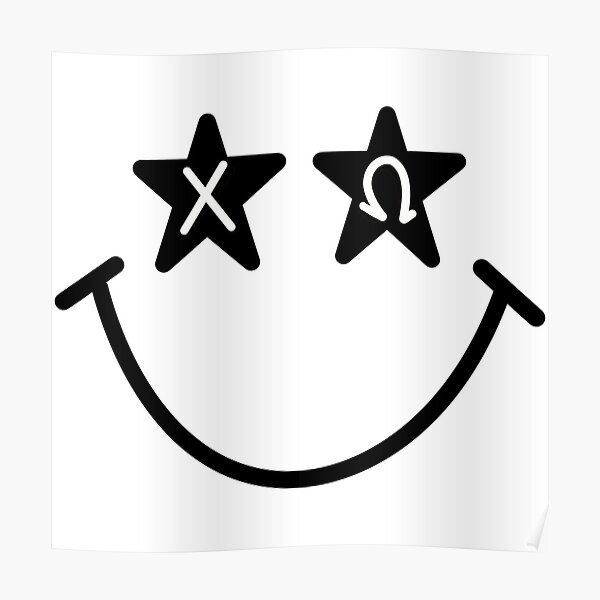 chi omega starry eyed smiley Poster