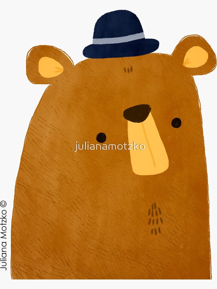 Bear with Hat by julianamotzko