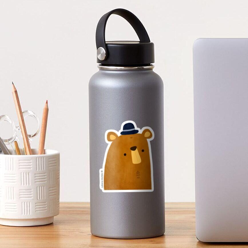 Bear with Hat Sticker