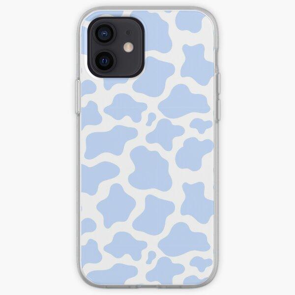 blue cow print! iPhone Soft Case