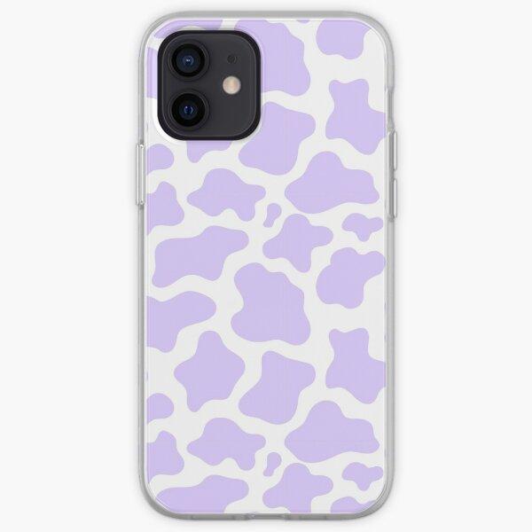impresión de vaca púrpura! Funda blanda para iPhone