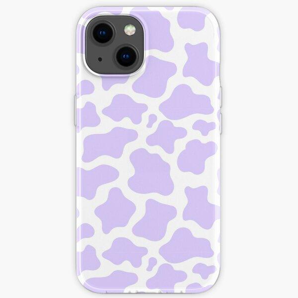 purple cow print! iPhone Soft Case