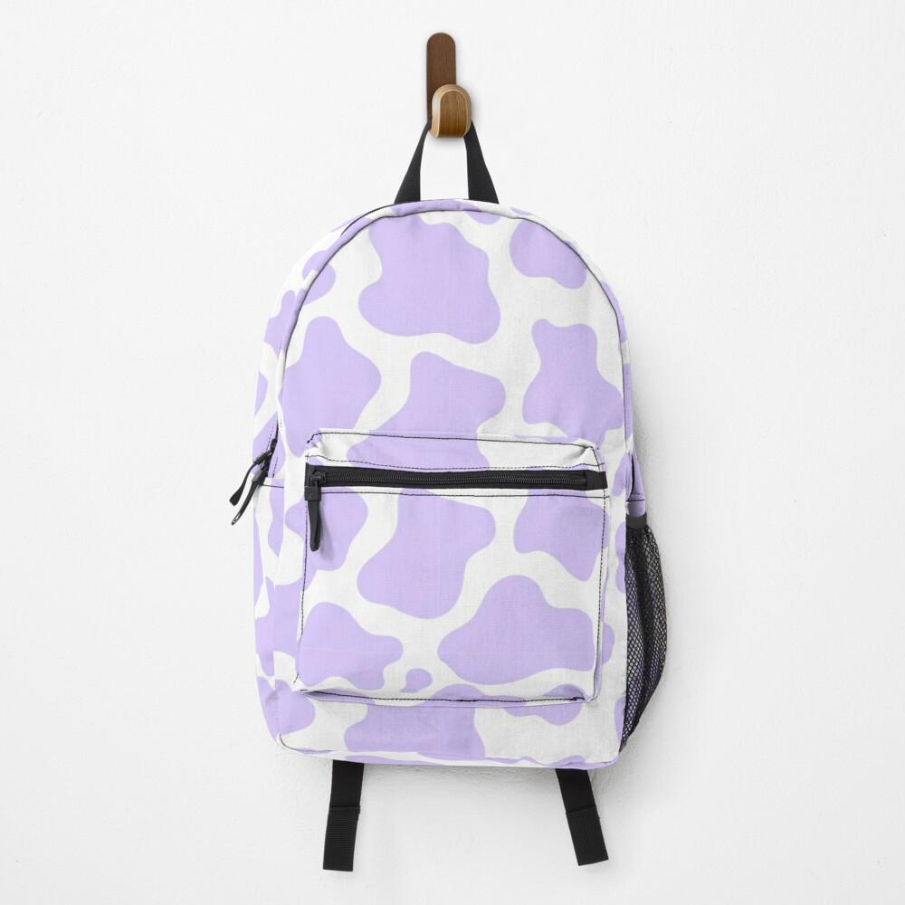 purple cow print! Backpack