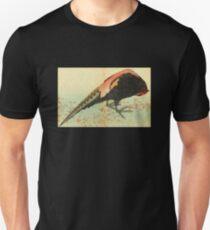 'A Pheasant on the Snow' by Katsushika Hokusai (Reproduction) T-Shirt