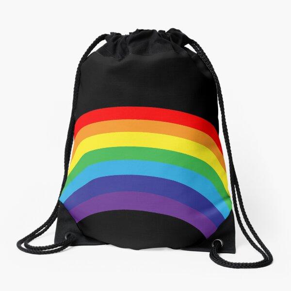 leo • theo | Pride rainbow Drawstring Bag