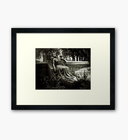 I am Stretched on Your Grave Framed Print