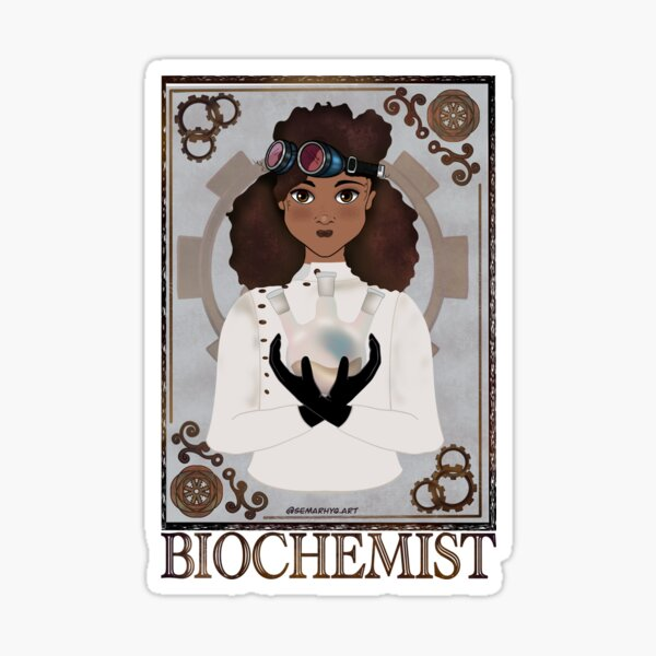 Biochemist (STEAMpunk Art) Sticker