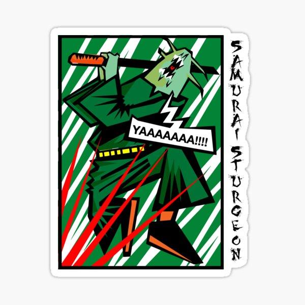 samurai sturgeon going berserk Sticker