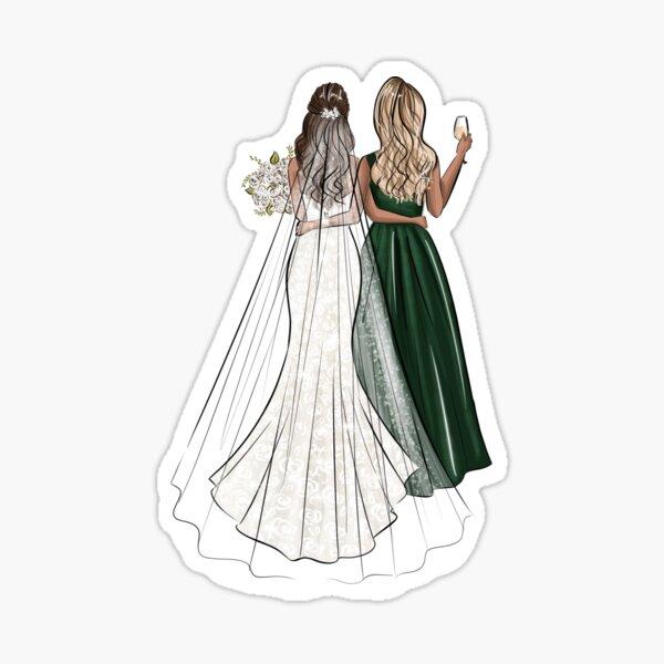Blonde bridesmaid Sticker