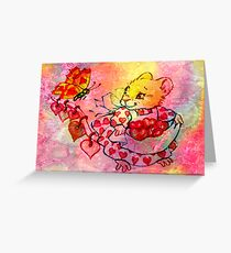 COLLECTING VALENTINES Greeting Card
