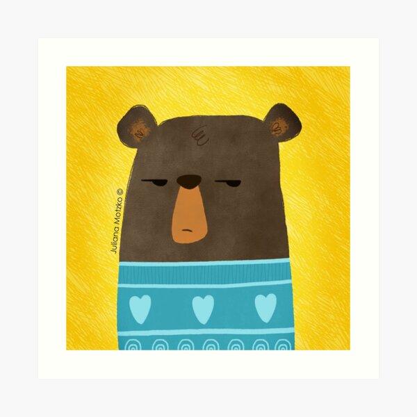 Skeptical Bear Art Print