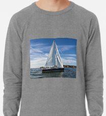A sail boat off Alderney  Lightweight Sweatshirt