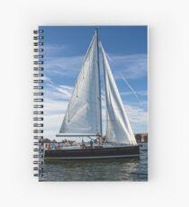 A sail boat off Alderney  Spiral Notebook