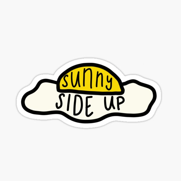 Sunny-Side Up Egg Surfaces Band Sticker