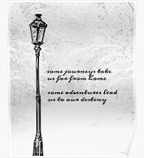 Narnia Lamp Post Poster