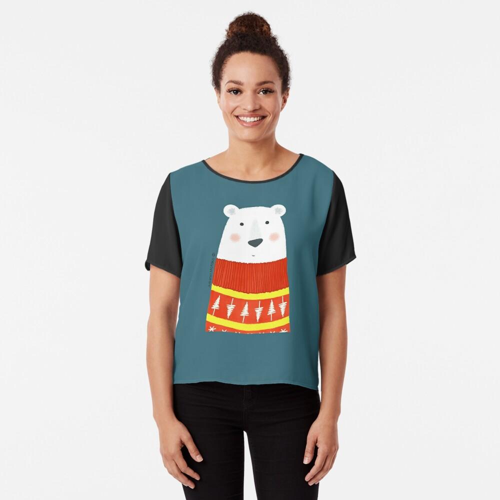 Polar Bear with Sweater Chiffon Top