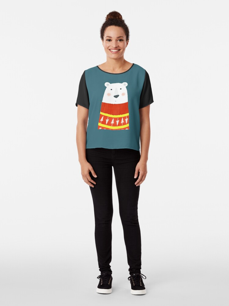 Alternate view of Polar Bear with Sweater Chiffon Top