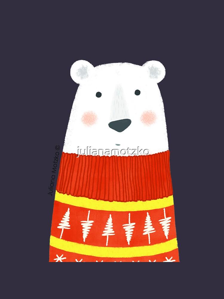 Polar Bear with Sweater by julianamotzko