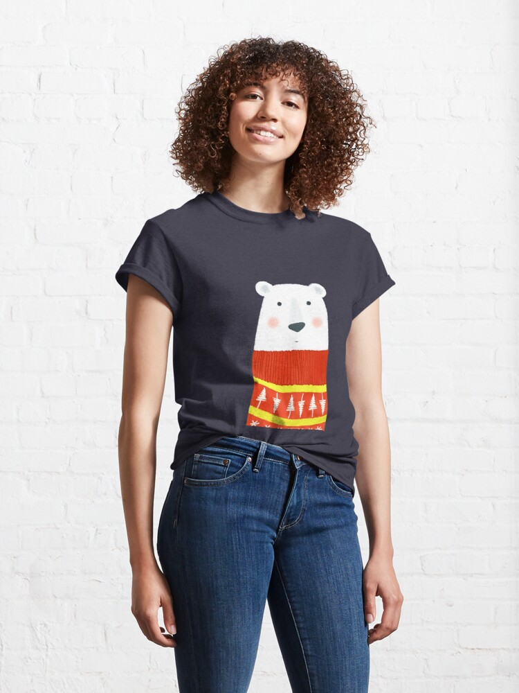 Alternate view of Polar Bear with Sweater Classic T-Shirt