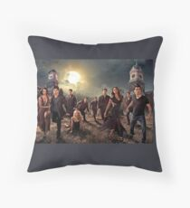 The vampire diaries-cast Throw Pillow