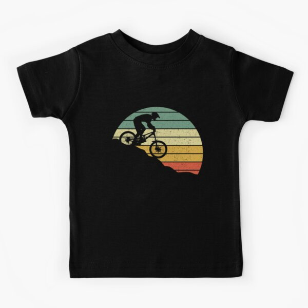 DOWNHILL MOUNTAIN BIKE VINTAGE GIFT Kids T-Shirt