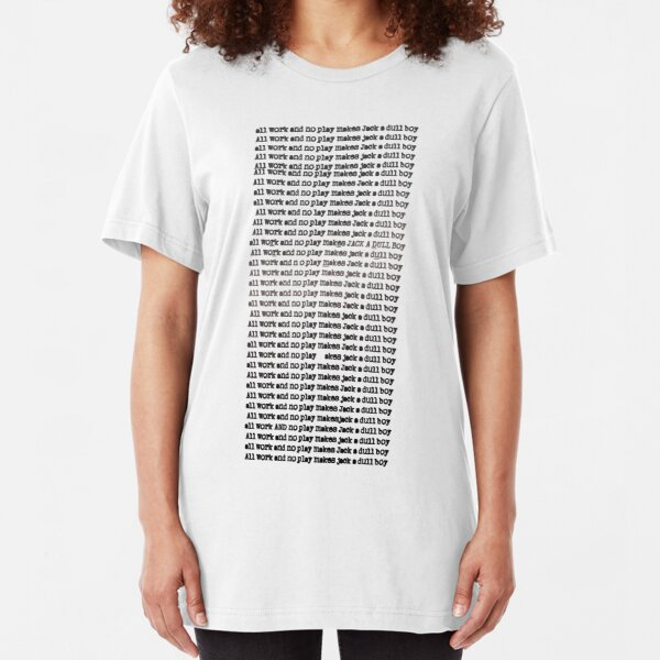 The Shining - All Work And No Play (Redrum) Slim Fit T-Shirt
