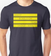 Crieff Bobsleigh Team - Vaduz 2013 Unisex T-Shirt